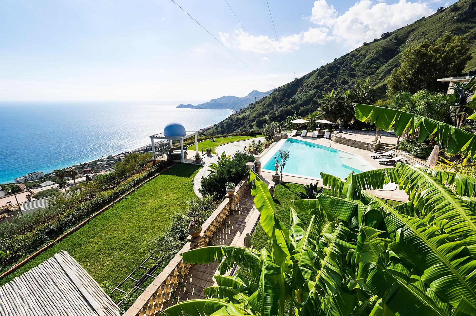sicily area information discover taormina holiday villa sea garden pool coastline