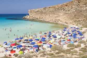 sicily guide holiday information sicilian cities travel sightseeing sicilian islands lampedusa beach sea shore